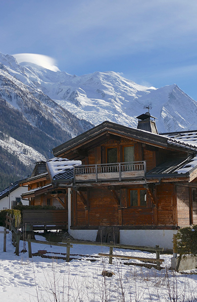 Chalet during winter